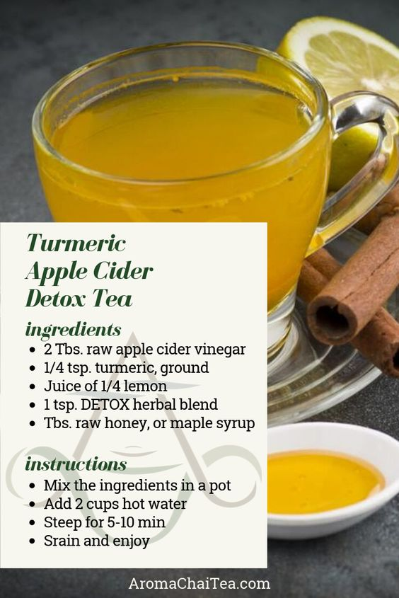 Turmeric Apple Cider Detox Tea Recipe