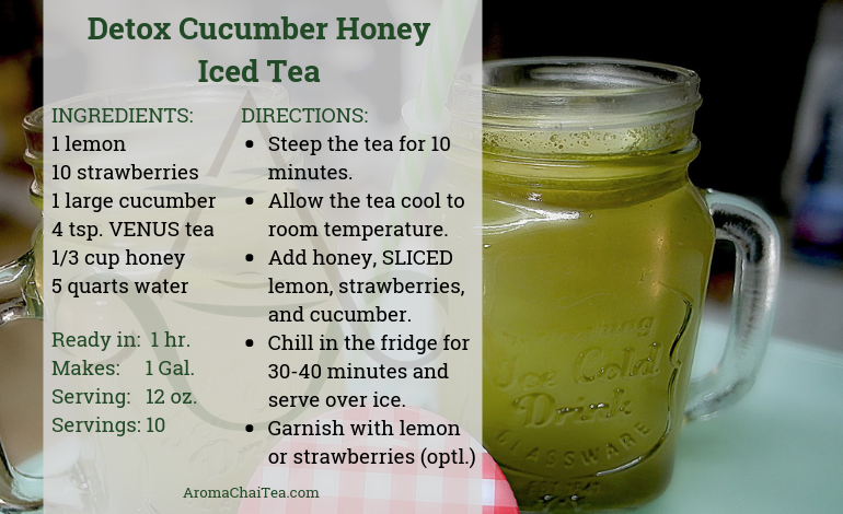 Detox Cucumber Honey Iced Tea