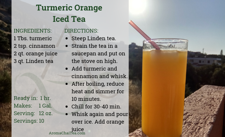 Turmeric Orange Iced Tea