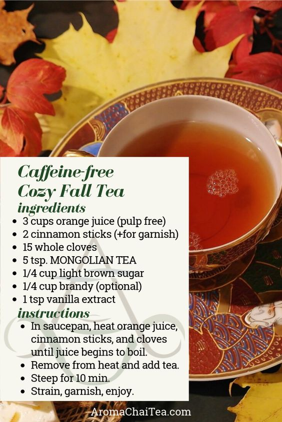 Caffeine-Free Fall Orange Spice Tea recipe