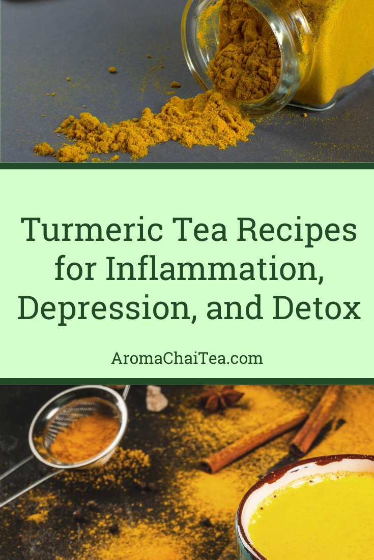 Turmeric Tea Recipes for Inflammation, Depression, and Detox
