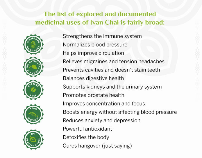 Aroma ChaiTea Ivan Chai list of benefits