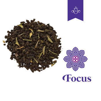 Concentration Boosting Herbal Tea FOCUS Reignites Mental Clarity | 3.5 oz. (100 gr.) - Aroma ChaiTea