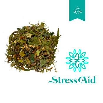 Stress and Anxiety Relief Herbal Tea Blend STRESS AID | 2 oz. (55 gr.) - Aroma ChaiTea