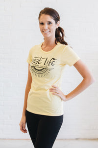 Mat Life Yoga Short Sleeve T-shirt - Yellow