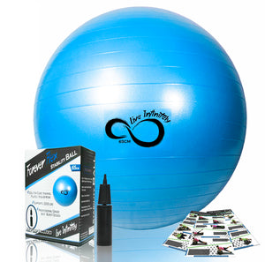 Professional Grade Anti Burst Exercise Ball - Relaxing Recoveries