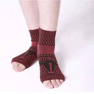 2 pcs Elastic Knitted Tourmaline Magnetic Therapy Ankle Brace Support Band - Relaxing Recoveries