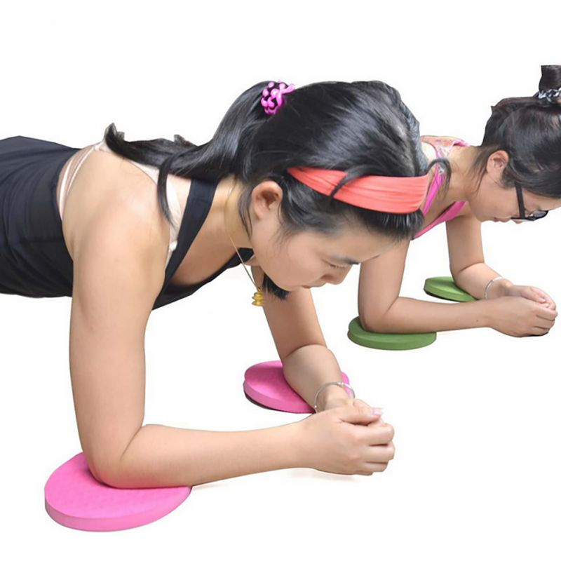 Pack of 2 Plank Workout Knee Pad Cushion Round Foam To Help Eliminate Knee Wrist Elbow Pain During Exercise