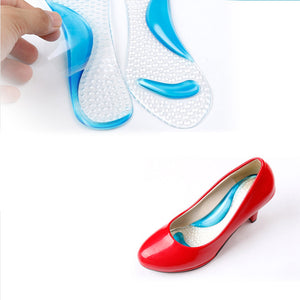 Gel Massage Arch Support 3/4 Insoles Orthotic Relief In Painful High Heels Shoes - Relaxing Recoveries