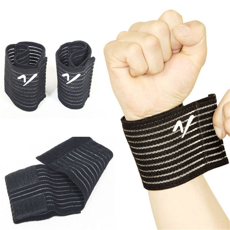 Bandage Bracer High Elasticity Wrist Support for Gym Exercise, Sports Basketball Tennis Badminton, Carpal Hand Protector Wrist Nylon Brace - Relaxing Recoveries