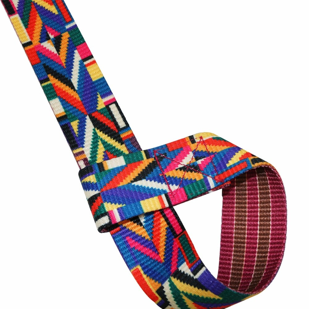 Colorful Cotton Yoga Mat Strap, Carrying Slings Shoulder Carry Straps, Adjustable - Relaxing Recoveries