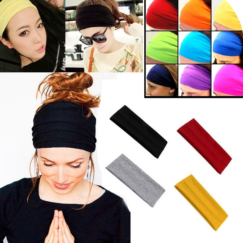Women's Hair Band Soft Wide Elastic Stretch Great For Running, Yoga And Sports, Turban Head Wrap Scarf Hair Accessories Autumn Winter - Relaxing Recoveries