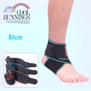 Safety Ankle Support For Gym, Running Protection - Black Foot Bandage Elastic Ankle Brace Band Guard - Relaxing Recoveries