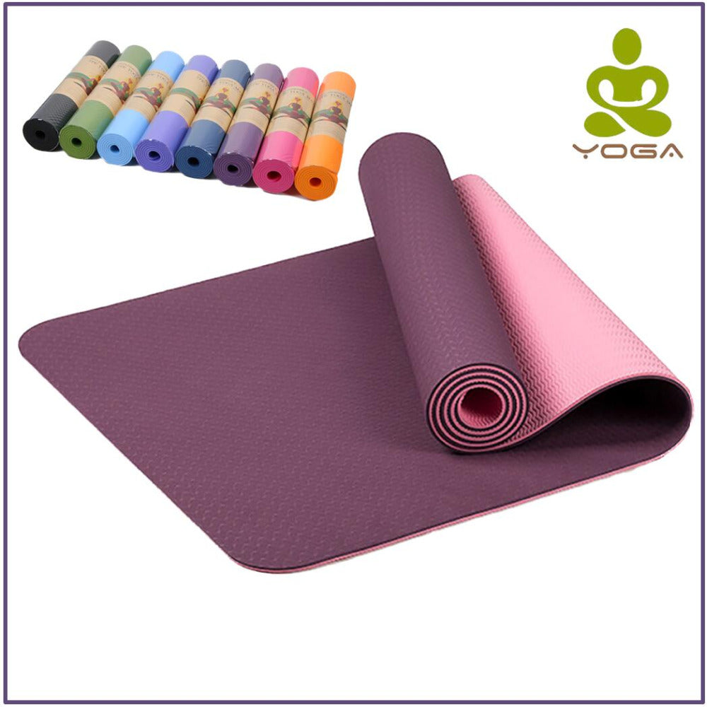 6mm TPE Non Slip Yoga Mat For Fitness, Pilates Mat, Gym Exercise Sport Pads - Relaxing Recoveries