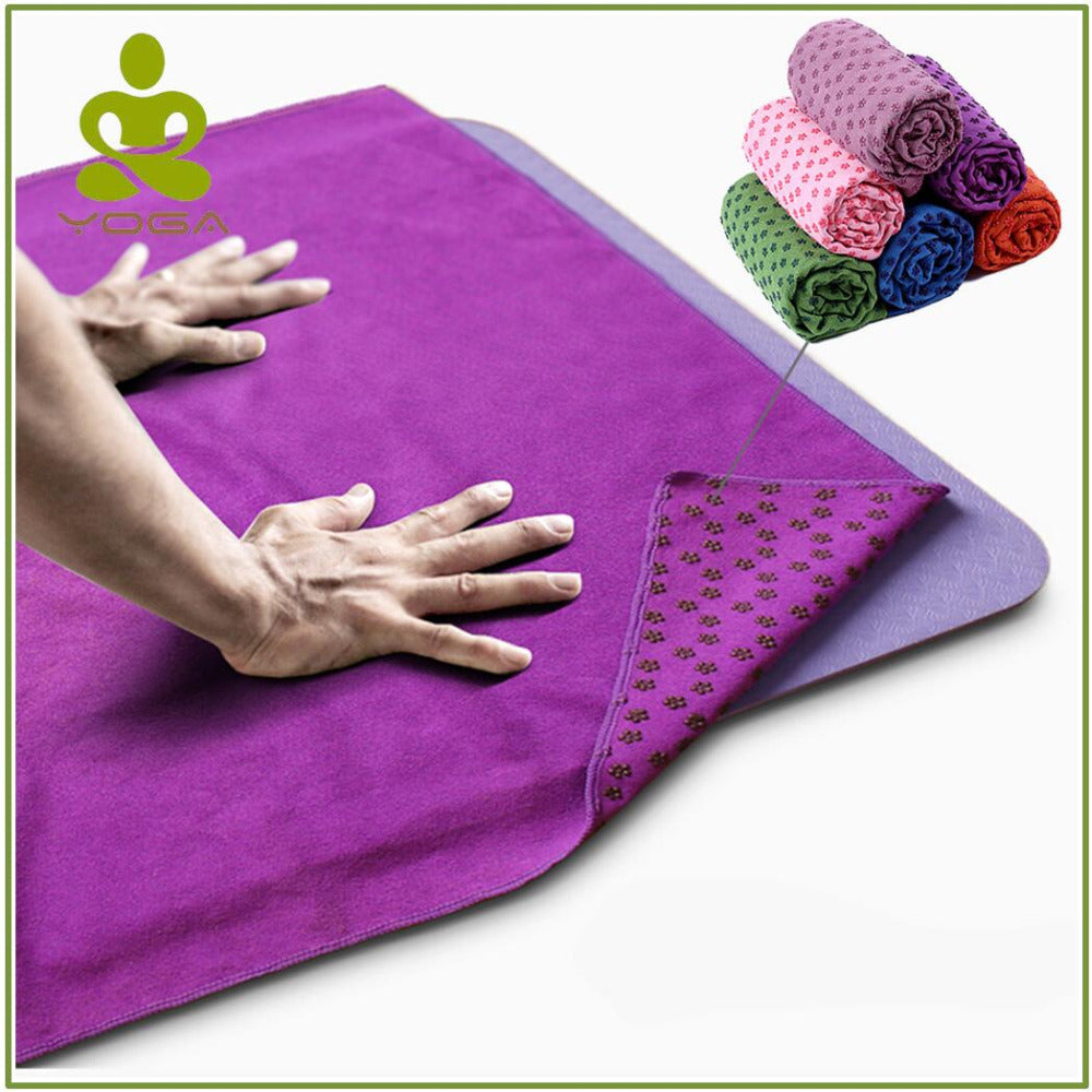 Non Slip Yoga Mat Cover Towel Anti Skid Microfiber Yoga Mat Size 183cm*61cm 72''x24''  Shop Towels Pilates Blankets Fitness - Relaxing Recoveries