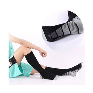 Men & Women's Compression Support Knee Length Socks 3-Colors To Choose From - Relaxing Recoveries