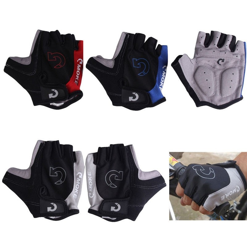 1Pair Anti-Slip Cycling Gloves Half Finger, Gel Bicycle Riding Gloves Anti Slip For MTB Road Mountain Bike Glove Anti Shock - Relaxing Recoveries