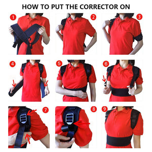 Adjustable Posture Corrector Corset Back Support Brace Belt for Student Adult Back Therapy Braces Supports Orthopedic