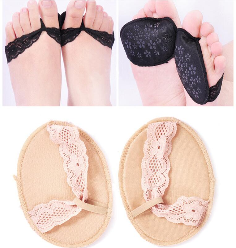 1 Pair Fashion Lace Women's Insoles For High Heels, Invisible  Non Slip Half Padded Shoe Insoles - Relaxing Recoveries