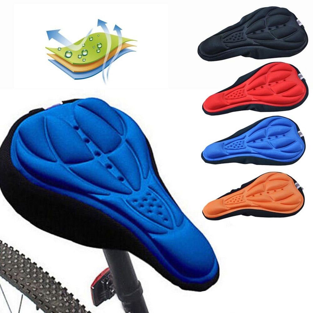 3D Soft Bike Seat Saddle for Cycling, Silicone Seat Mat Cushion Seat Cover Saddle, Bike Accessories
