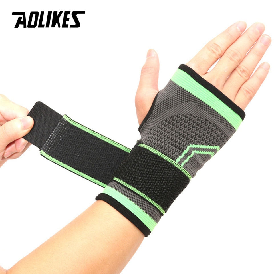 AOLIKES High Elastic Bandage Fitness Yoga Hand Palm Brace, Wrist Support Crossfit Power Llifting Gym Palm Pad Protector