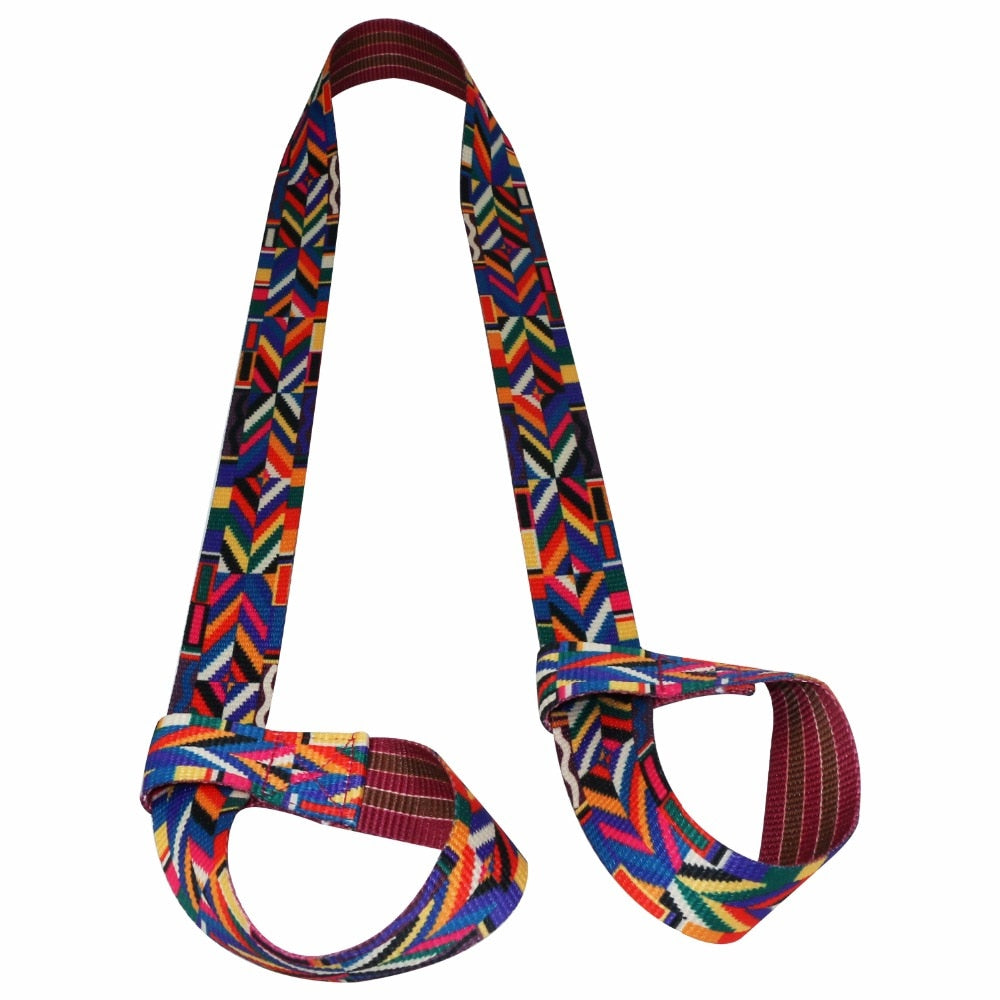 Colorful Cotton Yoga Mat Strap, Carrying Slings Shoulder Carry Straps, Adjustable