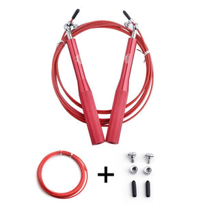 Crossfit Adjustable Jump Rope, Training Aluminum Skipping Rope, Fitness Speed Skip Training Boxing MMA fitness - Relaxing Recoveries