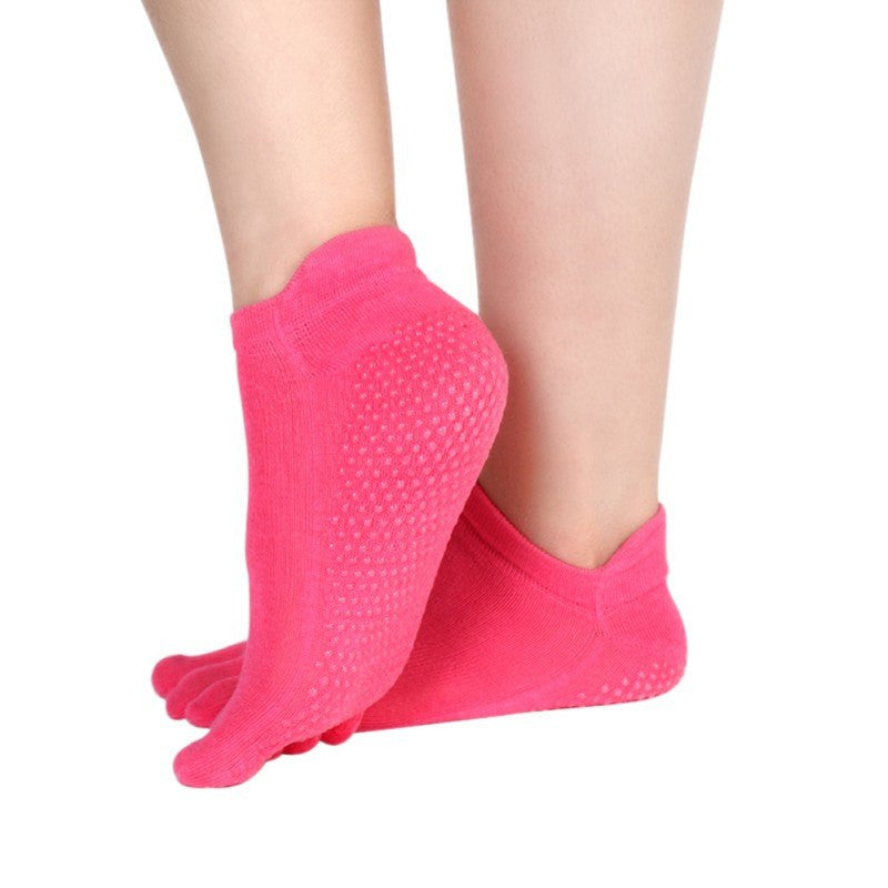 Womens Yoga Fitness Pilates Socks, Non Slip Massage Toe Durable Sport Socks - Relaxing Recoveries