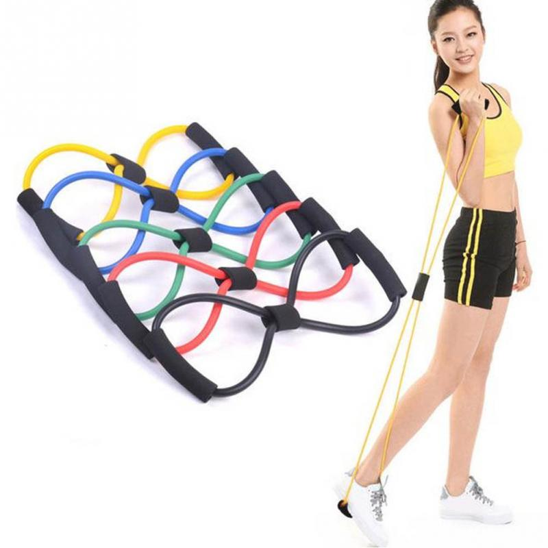 Fitness Elastic Band For Yoga & Fitness, 8 Shape Pull Rope Tube Equipment, Fitness Belt Tool Gym Exercise - Relaxing Recoveries