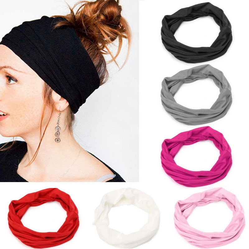 Women's Hair Band Soft Wide Elastic Stretch Great For Running, Yoga And Sports, Turban Head Wrap Scarf Hair Accessories Autumn Winter