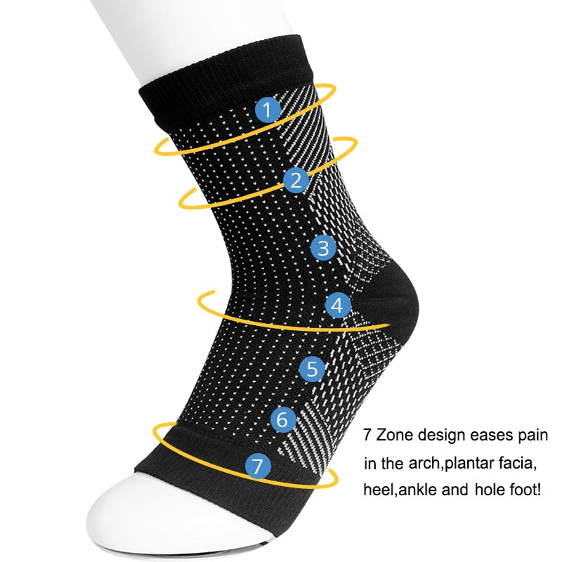 1 pair Anti Fatigue Unisex Compression Socks, Flight Travel Anti-Fatigue Women Men, Miracle Copper Anti-Fatigue Sock - Relaxing Recoveries