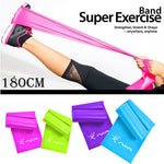 1.8m Rubber Resistance Bands Latex Loop Elastic Band for Yoga, Fitness And Pilates Training Stretched Crossfit Gym