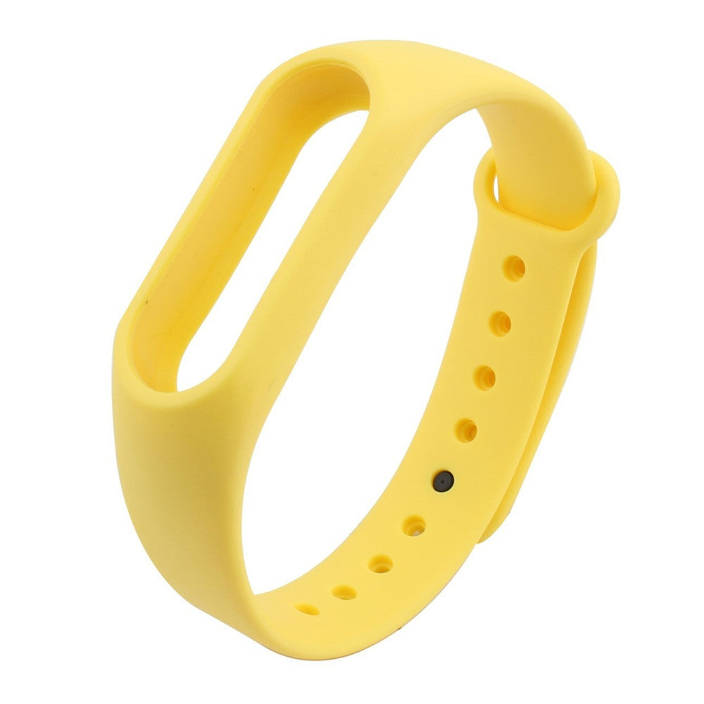 Colorful Silicone Wrist Strap Bracelet 10 Color Replacement Watchband for Original 2 Xiaomi Mi B...YELLOW