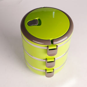 Coupcou.com: Weides WD-B201 Portable Stainless Steel Thermal Insulated Lunch Box