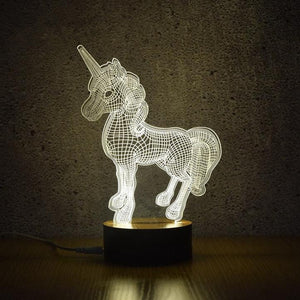 Coupcou.com: 3D Unicorn Night Lights Creative Acrylic 3D LED Light Table Lamp Decotation Ligts for Home Kids Room Gift