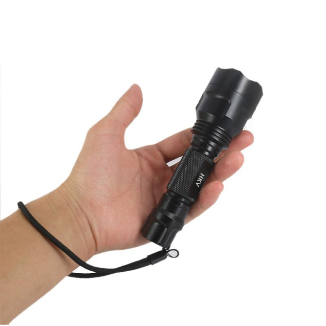 Coupcou.com: HKV led Tactical Flashlight 18650 Battery Aluminum Torch