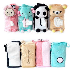 Coupcou.com: Car Tissue Box Cartoon Animal Design Soft Portable Tissue Box
