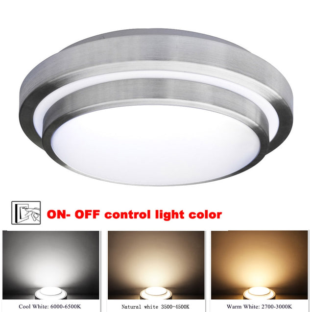 Coupcou.com: Jiawem Led Ceiling Lights 40W Three Color Led Lamp Modern Led Lights Indoor Lighting for Balcony (Ac 170-265V)