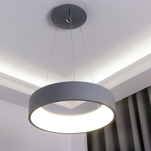 Coupcou.com: Modern Restaurant Droplight Creative Personality Bedroom Lights Nordic Contracted Sitting Room Art Circle Office LED Lamps