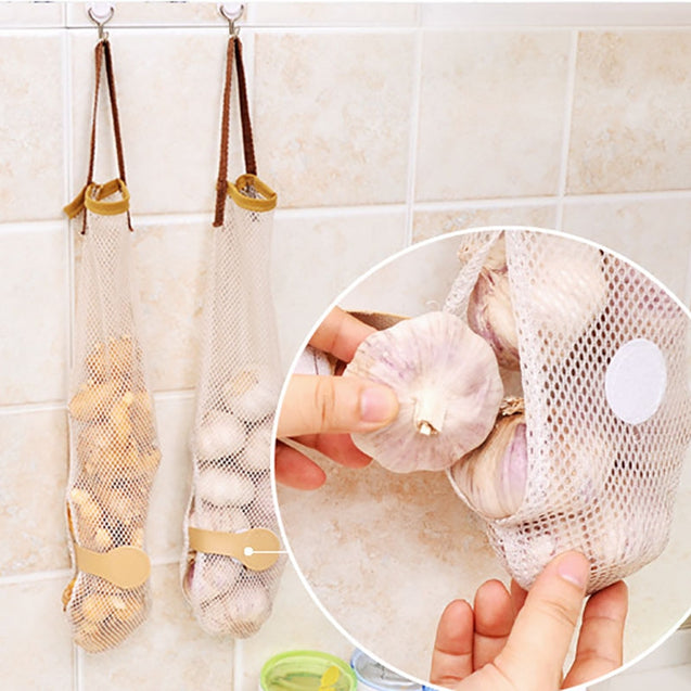 Coupcou.com: DIHE Food Storage Bag Reticular Portable Kitchen Supplies