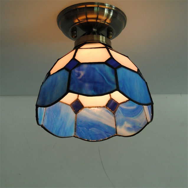 Coupcou.com: Modern Art Crafts Nordic Stained Glass Lamp Shade Lustre Vanity Flush Mount Ceiling Light Fixtures Chandelier Living Room Luminaire DFNXDD-21