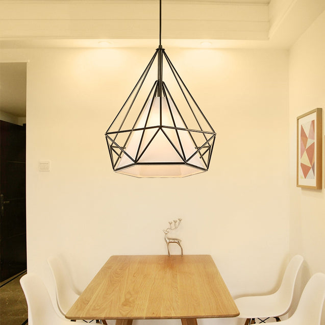 Coupcou.com: Ever - Flower Birdcage Pendant Lights Modern Metal Cage Pendant Lamps for Bedroom Cafe Bar