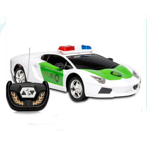 Coupcou.com: Wireless Remote Control RC Police Car Truck Kid Toy Birthday Gift