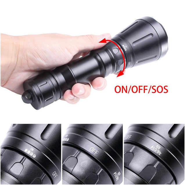 Coupcou.com: U`King ZQ-X968 3600LM 3 XML-T6 LED Diving Flashlight Torch Underwater Lamp