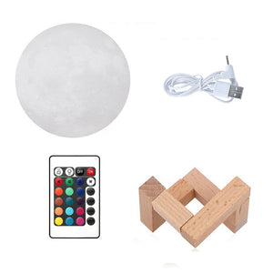 Coupcou.com: YouOKLight YK2302 3D Printed Remote Control 16 Colors Moon Style Night Light