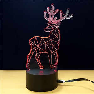 Coupcou.com: Christmas Gift  Advertising Promotion  LED Touches The Color-Changing 3D Lamp  USB  Creative Nightlight