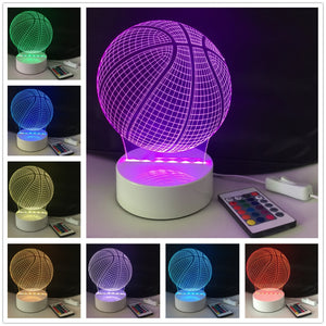 Coupcou.com: DSU Basketball Light Optical Illusion Color Change 3D Visual LED Light