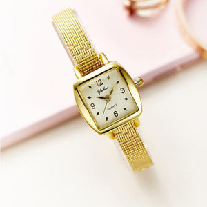 Coupcou.com: Women Square Dial Elegant Ladylike Thin Band Plain Style Watch Accessory