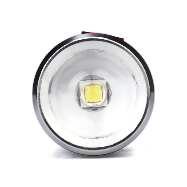 Coupcou.com: HKV LED Flashlight Torch Micro USB Rechargeable LED Dimming Zoomable Flashlight