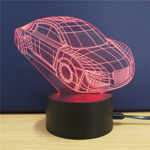 Coupcou.com: Sports Car  Gift  Advertising Promotion LED Touches The Color-Changing 3D Lamp USB Creative Nightlight